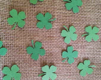 4 leaf clover confetti- 100 hand punched clovers- st. Patrick's Day/luck of the Irish