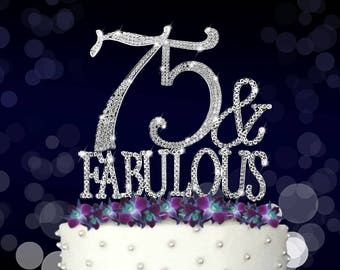 75th Birthday Topper Etsy