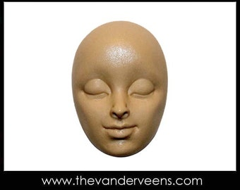 Mold No.212 (Face-High cheekbone with closed eyes) by Veronica Jeong