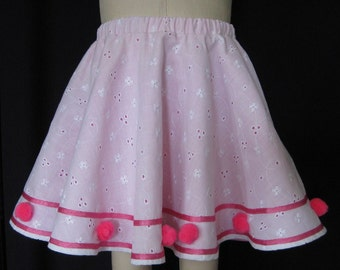 PRETTY in PINK CIRCLE Skirt Size 4T Lined