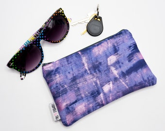 Hand Painted Bag, Small Makeup Bag, Zipper Pouch Bag, Custom Bridesmaid Gift for Her, Zip Pouch, Make Up Bag, Bag Organizer, Zip Bag