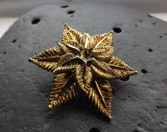 Gold Star Shaped Vintage Brooch
