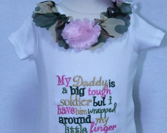 Army, Camo,  bodysuit, baby girl, pink, baby headband, baby shower gift, new baby gift, bodysuit, daddy, soldier, newborn, father's day gift