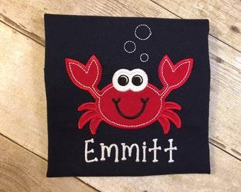 Boy Crab Children's T-Shirt, Summer Fun.