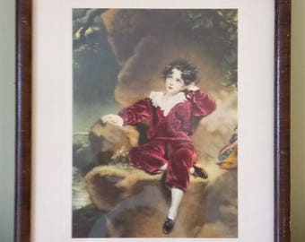 Vintage Framed Print | The Red Boy | By  Sir Thomas Lawrence | Wood Frame | Thomas Lawrence
