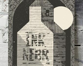 "Screenprint - ""Abandoned Barn"" art print"