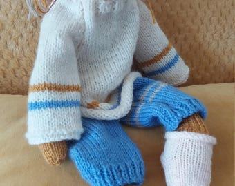 Lenny Bear, knitted