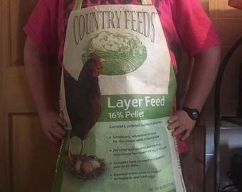 Green egg adjustable apron