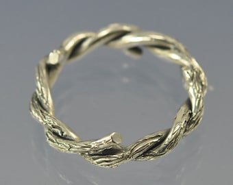 Entwined Twig Ring. Sterling Silver. Made to Order