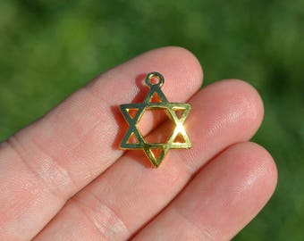 5 Gold Plated Star of David Charms GC5318
