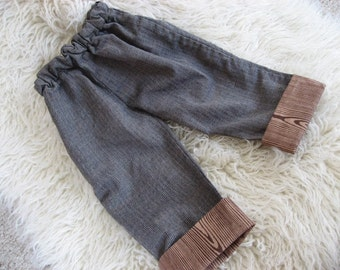 recycled kids clothing tutorial - adding length, hemming pants