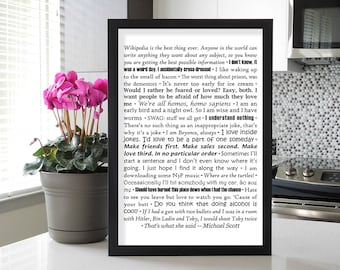 The Office: Michael Scott Quotes Poster