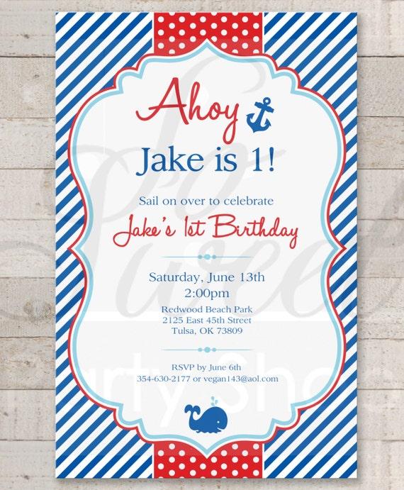Nautical 1st birthday invitations boys 1st birthday filmwisefo