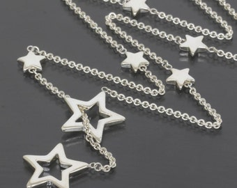 Tiffany & Co Sterling Silver Star Lariat Necklace 19 In.