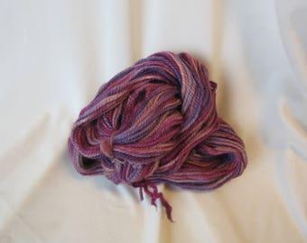 Navajo 3 Ply Alpaca Yarn Handspun & Hand Dyed - 100 yards - Worsted Weight - 9-11 WPI