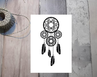 Dreamcatcher Print. Typography Poster. Wall Decor