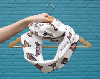 Pug Infinity Scarf - Cotton