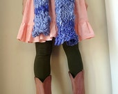 Big Bulky Knit Scarf Custom Order Wraps Thick Wool Handmade  Choose Your Color