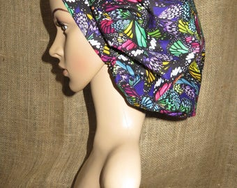 Butterfly Wings Beautiful Colors Bouffant Surgical Scrub Hat