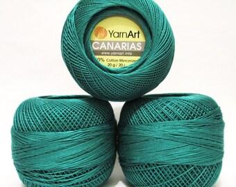 YarnArt Canarias - Choose colour - Cotton Yarn - Crochet Yarn - 100% Mercerized Cotton - Summer Yarn - organic cotton yarn - Lace Yarn