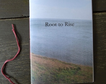 Root to Rise - handbound poetry book by Lily Waugh