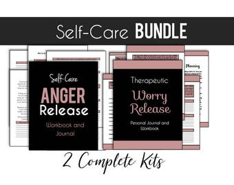 Self Therapy Worry Journal Kit and Anger Therapy Help Size A4 // Emotional Healing  // Mental Health Journal // Value //