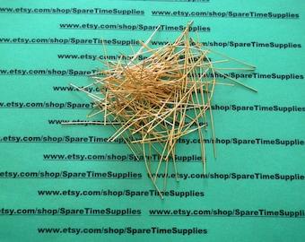 "Head Pins - 2"" - gold plated - 144 pcs - #18002-1"