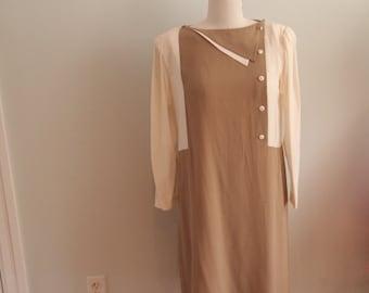 1980's Colourblocked Judi French Dress