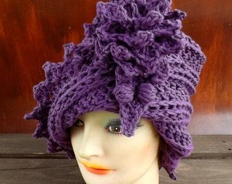 Cloche Hat Pattern, Crochet Pattern, Crochet Hat PDF, Cloche Pattern, Flapper Hat Pattern, Womens Hat Pattern Lauren 1920s Cloche Hat