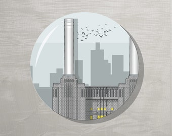 End of Line SALE! London Bottle Opener Magnet - Battersea Power Station