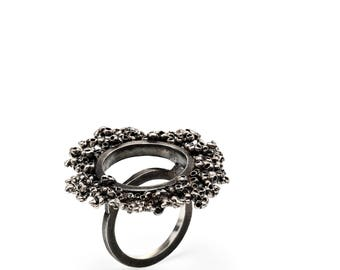 Oxidized Silver Ring | Gift for Her