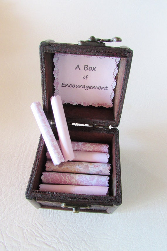 Get Well Gift, A Box of Encouragement, Cancer Gift, Breast Cancer Gift, Encouraging Quotes in Box, Cancer Encouragement, Inspiring Quotes