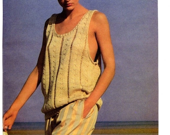 Vintage Women's Knitted Singlet Pattern