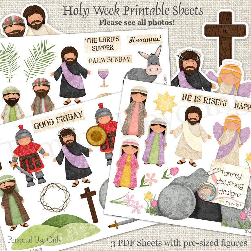 Religious easter printable for kids christian easter stickers zoom negle Choice Image