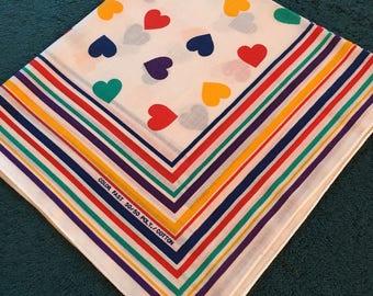 Vintage 1980's Heart Bandana