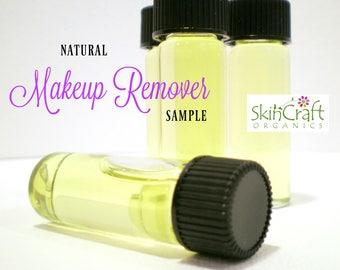 Makeup Remover Sample - All Natural - Vegan - Gentle for All Skin Types - Oil Face Cleanser - 1 Dram Sample