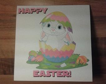 Handmade Happy Easter Card - Style 1 - Cute Bunny