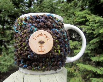 Frankfort Up North Michigan Coffee Cup Cozy - Perfect for Gift Giving or Keeping and Environmentally Friendly