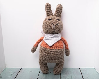 Knitted toy hare Zhadan