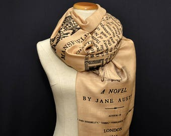 Mansfield Park by Jane Austen Scarf, Shawl, Wrap. Book scarf, Literary gift, Teacher gift, Library, Classic Literature, Fanny Price