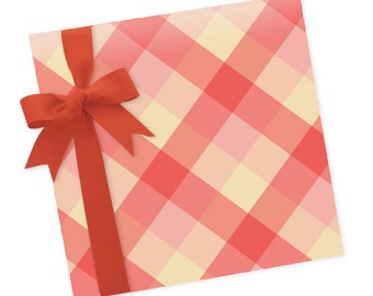 Pink Plaid - Wrapping Paper