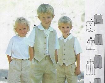 Burda Pattern 9990  Boys Pants, Shorts & Vest Size (2-8)  UNCUT
