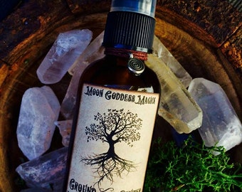 GROUND and CENTER ~ Grounding Spray~ Connect with Earth Energy~ Earth Magick ~ Ritual Preparations~ Yoga Mat Spray2oz Spray