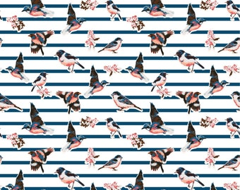Birds and Stripes Photo Backdrop