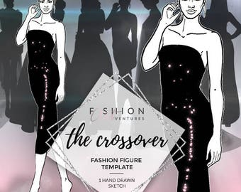 The Crossover   Fashion Template, Fashion Illustration, Croquis, Fashion drawing