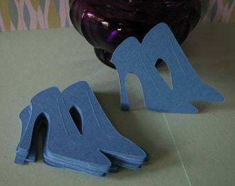25--21/2 inch blue high heel shoes.