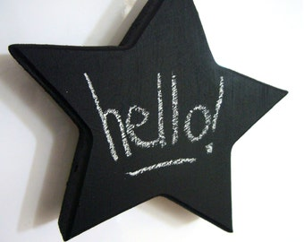 Star Magnet - Blackboard Magnets - Fridge Magnet - Refrigerator Magnet - Fun Magnets - Blank Magnet - Small Fridge Chalkboard - Fridge Signs
