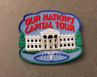 Our Nation's Capitol Tour Merit Badge Fountain White House Columns Washington DC National Mall National Park Service Adult Scout Patch