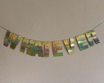 Custom glittery holographic letter banner/ custom letter banner / wedding banners/ gold decor / room decor / wedding decorations