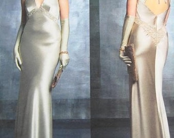 Vogue Dress Pattern V2840 - BELLVILLE SASSOON - Evening Dress -  Sizes 6/8/10